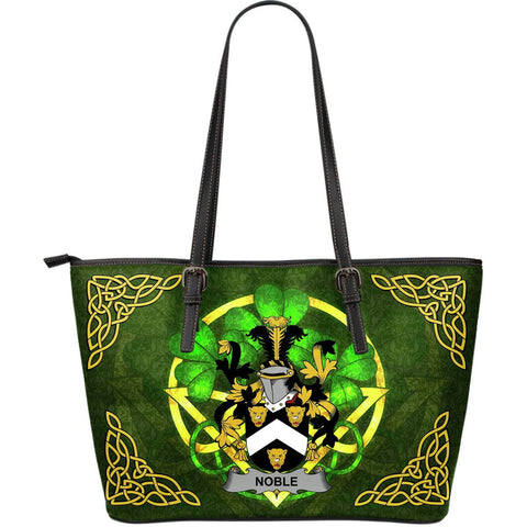 Irish Handbags, Noble Family Crest Handbags Celtic Shamrock Tote Bag Large Size A7