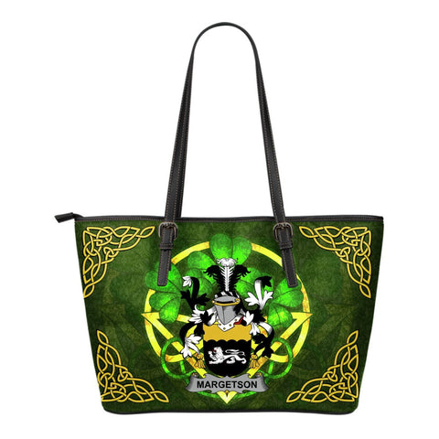 Irish Handbags, Margetson Family Crest Handbags Celtic Shamrock Tote Bag Small Size A7