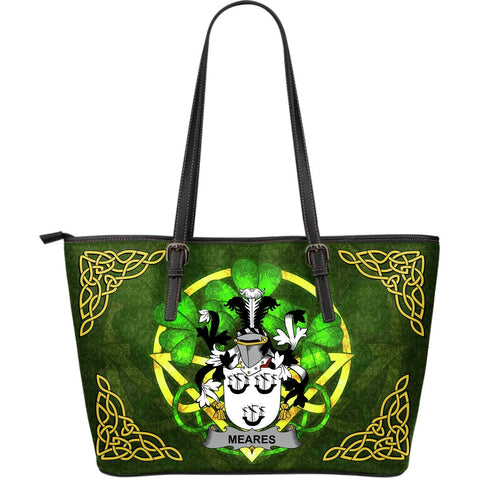 Irish Handbags, Meares Family Crest Handbags Celtic Shamrock Tote Bag Large Size A7