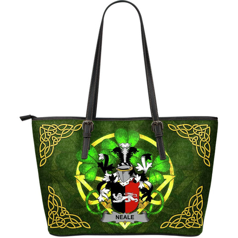 Irish Handbags, Neale Family Crest Handbags Celtic Shamrock Tote Bag Large Size A7