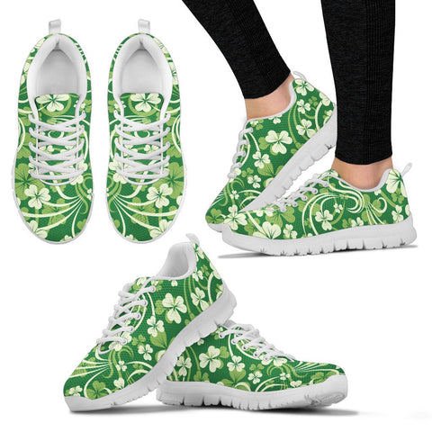 Ireland St. Patrick's Day Shoes, Irish Shamrock Sneakers A2