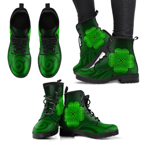 Image of Shamrock Lucky Leather Boots