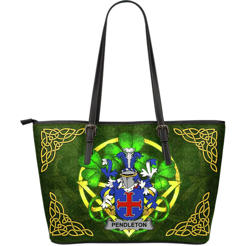 Irish Handbags, Pendleton Family Crest Handbags Celtic Shamrock Tote Bag Large Size A7
