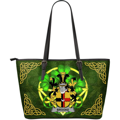Irish Handbags, Brien or O'Brien Family Crest Handbags Celtic Shamrock Tote Bag Large Size A7