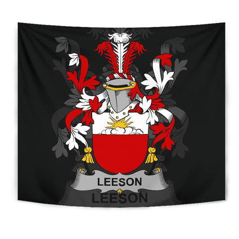Irish Tapestry, Leeson Family Crest Wall Carpet A7