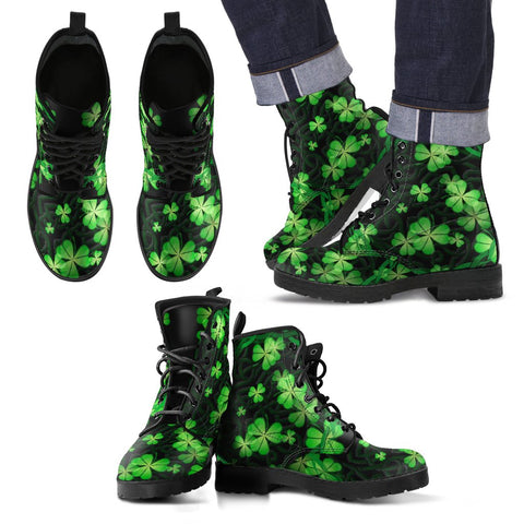 Image of Ireland Celtic Shamrock Leather Boots | Special custom design