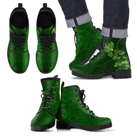 Image of Shamrock leather boots,SHAMROCK,LEATHER BOOTS,Irish shamrock,Irish leather boots,Irish boots,Irish,Ireland boots,IRELAND,FOOTWEAR,Boots