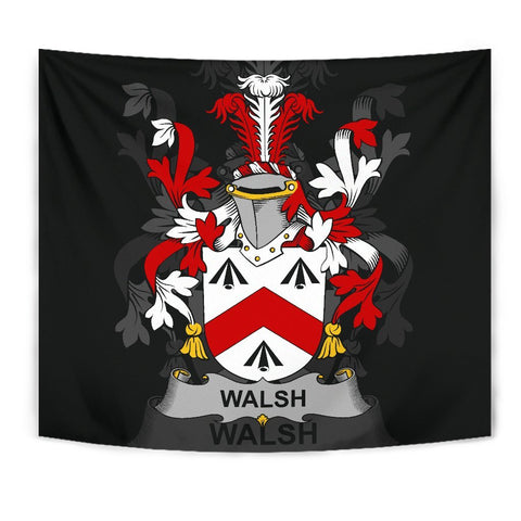 Irish Tapestry, Walsh Family Crest Wall Carpet A7