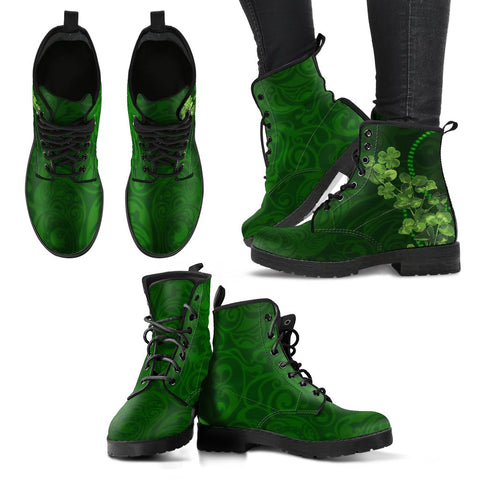 Shamrock leather boots,SHAMROCK,LEATHER BOOTS,Irish shamrock,Irish leather boots,Irish boots,Irish,Ireland boots,IRELAND,FOOTWEAR,Boots
