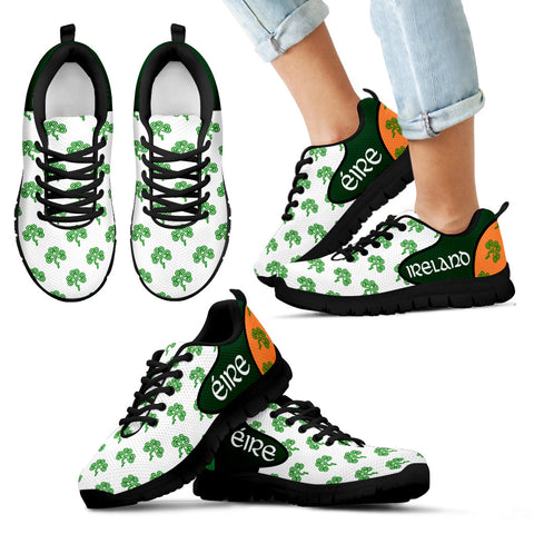 Ireland Shamrock Shoes, Celtic Knot Sneakers Th2