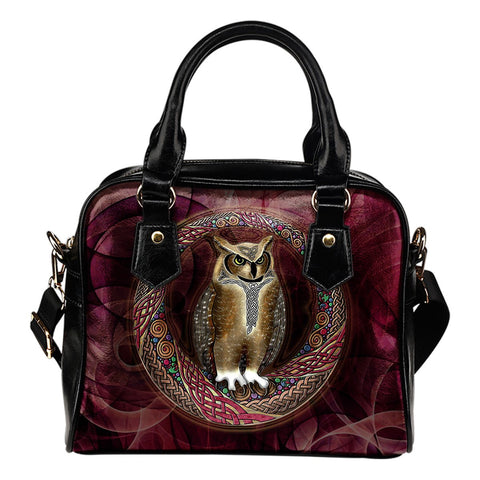 Celtic Owl Shoulder Handbags NN8