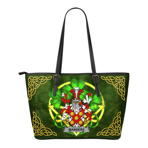 Irish Handbags, Manders Family Crest Handbags Celtic Shamrock Tote Bag Small Size A7