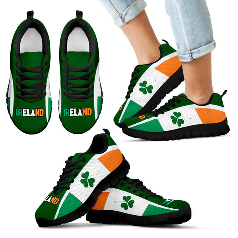 Image of Ireland Sneakers Shamrock Flag
