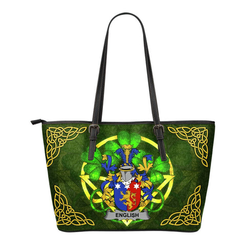 Irish Handbags, English Family Crest Handbags Celtic Shamrock Tote Bag Small Size A7