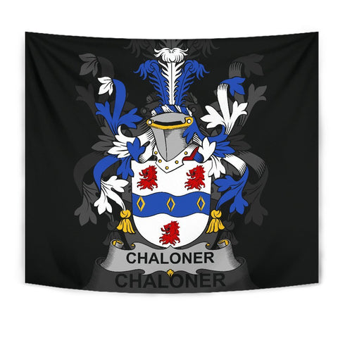 Irish Tapestry, Chaloner Family Crest Wall Carpet A7