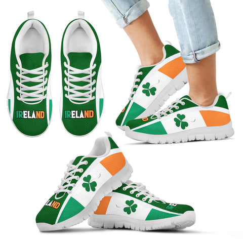 Ireland Sneakers Shamrock Flag