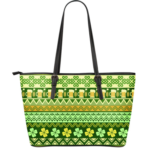 Ireland Beautiful Pattern Large Leather Tote Bag