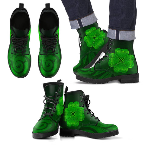 Shamrock Lucky Leather Boots