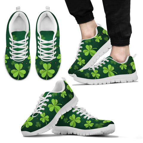 Irish Shamrock Green Men's / Women's Sneakers (Shoes)02