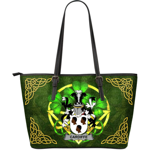 Irish Handbags, Cardiffe Family Crest Handbags Celtic Shamrock Tote Bag Large Size A7