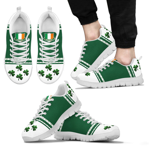 Image of Ireland Flag Shoes, Shamrock St. Patrick's Day Sneakers Th9