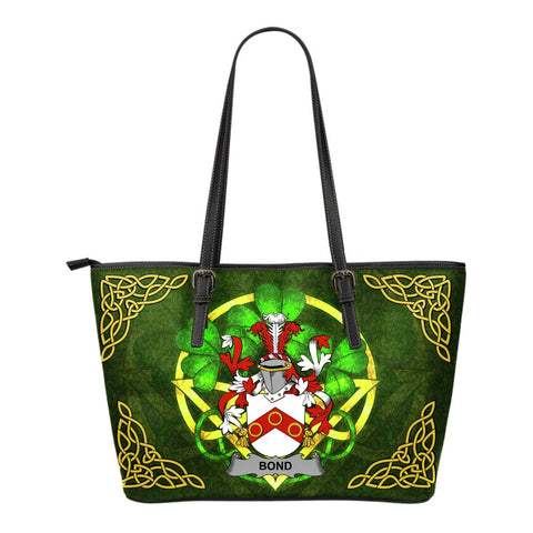 Irish Handbags, Bond Family Crest Handbags Celtic Shamrock Tote Bag Small Size A7