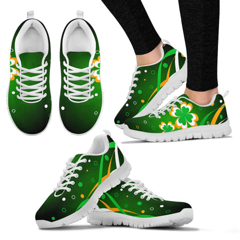 Image of Ireland shoes-  Flag with clover men's/ women's sneakers NN8 1ST