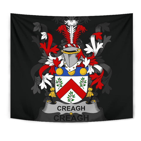 Irish Tapestry, Creagh Family Crest Wall Carpet A7