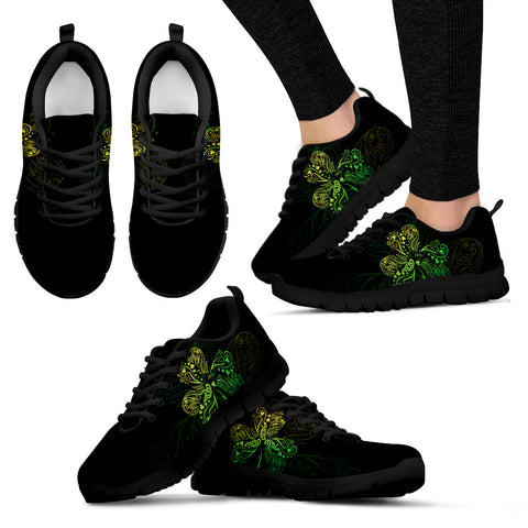 Irish Shamrock Shoes, Celtic Knot Sneakers K5