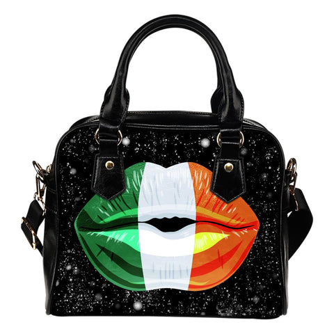 IRELAND LIPS FLAG SHOULDER HANDBAG A2