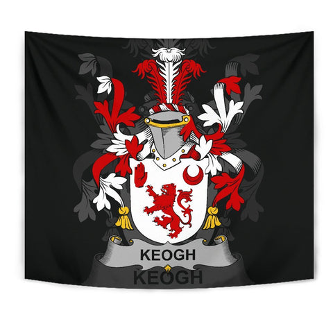 Irish Tapestry, Keogh or McKeogh Family Crest Wall Carpet A7