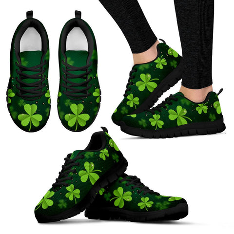 Image of Irish Shamrock Green Men's / Women's Sneakers (Shoes)02