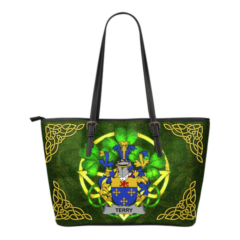 Irish Handbags, Terry Family Crest Handbags Celtic Shamrock Tote Bag Small Size A7
