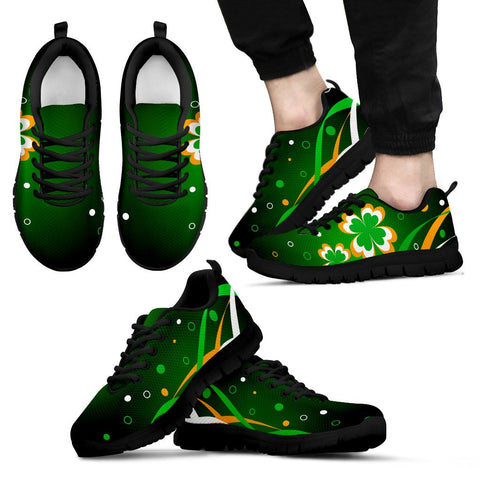 Ireland shoes-  Flag with clover men's/ women's sneakers NN8
