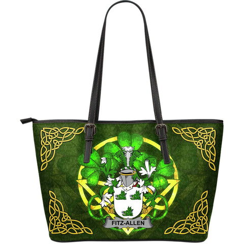 Irish Handbags, Fitz-Allen Family Crest Handbags Celtic Shamrock Tote Bag Large Size A7