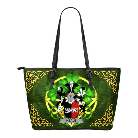 Irish Handbags, Neale Family Crest Handbags Celtic Shamrock Tote Bag Small Size A7