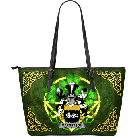 Irish Handbags, Margetson Family Crest Handbags Celtic Shamrock Tote Bag Large Size A7