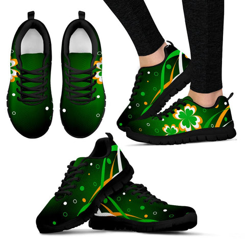 Image of Ireland shoes-  Flag with clover men's/ women's sneakers NN8