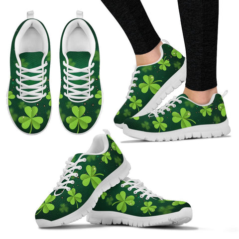 Image of Irish Shamrock Green Men's / Women's Sneakers (Shoes)02 | 1stireland.com