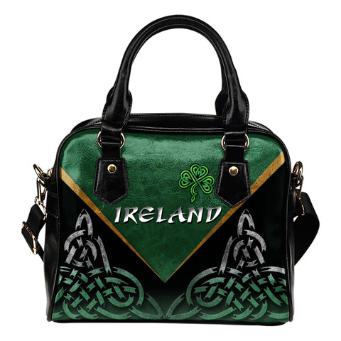 Irish Shamrock Shoulder Handbag, Trinity Knot Shoulder Handbag K4