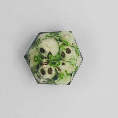 Image of Skull Art D20 Dice