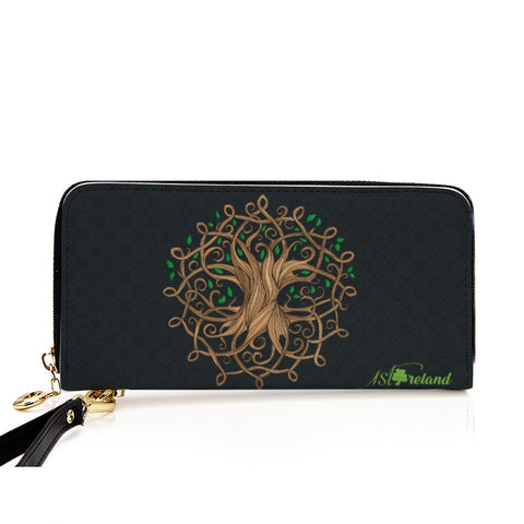 Image of Celtic Tree Luxurious Zipper Wallet | 1stireland.com
