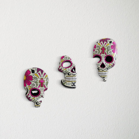 Image of 3pcs/set Broken Skull Wall Decoration - New Style