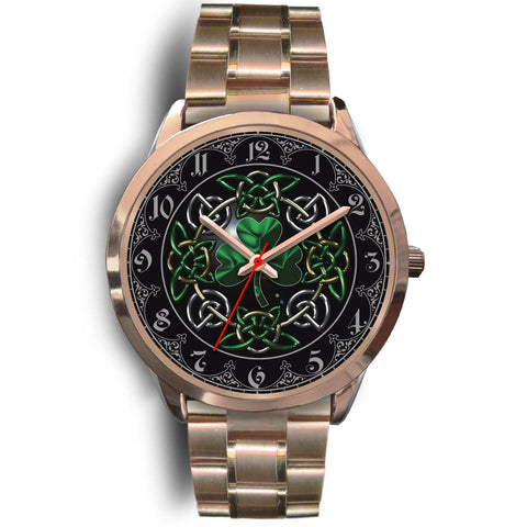 Celtic Shamrock Rose Gold Watch