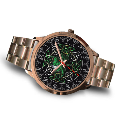Image of Celtic Shamrock Rose Gold Watch