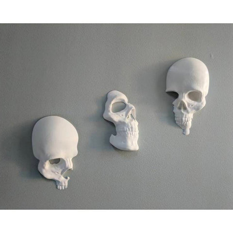 Image of 3pcs/set Broken Skull Wall Decoration