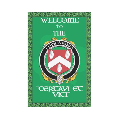Irish Flag, Ireland Family Crest Flag (Personalized With No Pole) TH7
