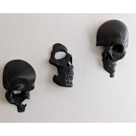3pcs/set Broken Skull Wall Decor