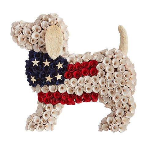 Image of American Patriotic Puppy Wreath TH10