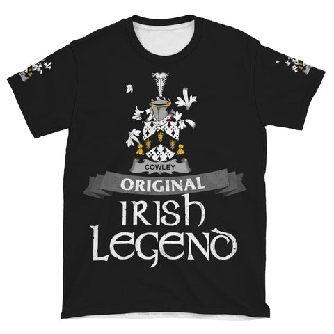 Irish Shamrock Celtic Cross Shirt, Cowley or Cooley Family Crest T-Shirt A7